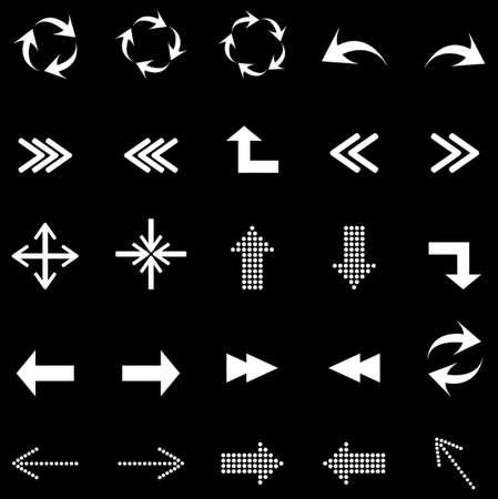 Arrows icons set Vector