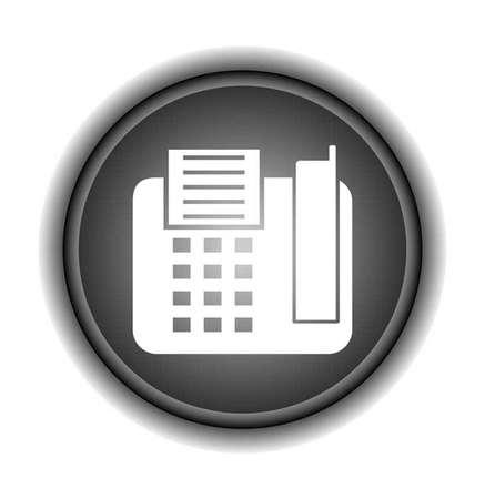 fax machine: Vector fax machine illustration