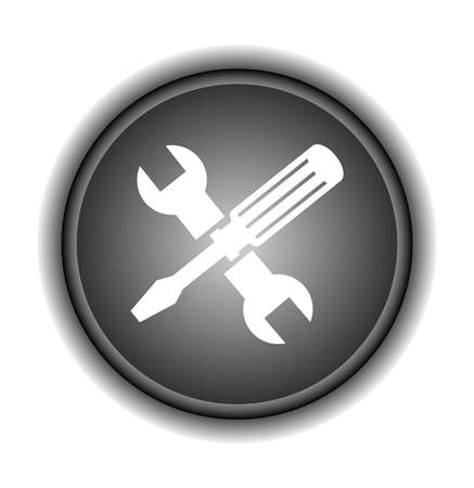 Screwdriver and Wrench Icon  Vector  Vector