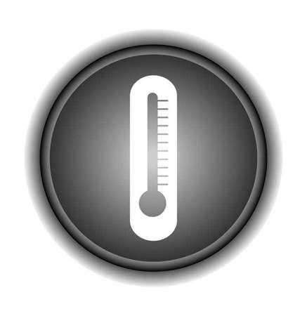 Thermometer icon on circle  button Vector