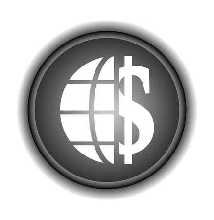 Dollar over earth  Иллюстрация