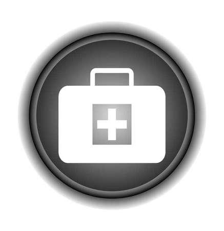 medical bag icon, sign Vector