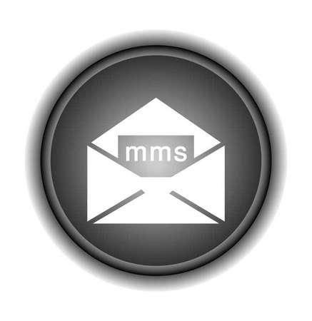 mms: mms web glossy icon Illustration