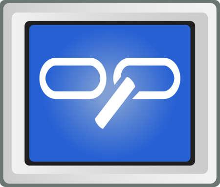 broken link: Errore Link Icon - Illustrazione