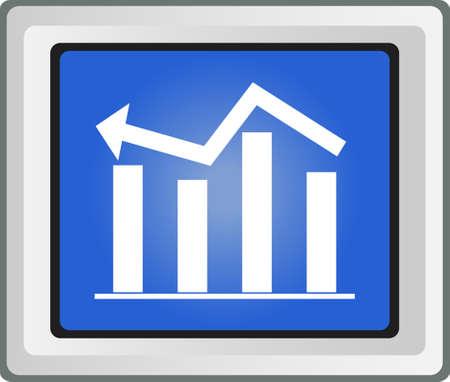 削減: ビジネス グラフ変動成長と削減