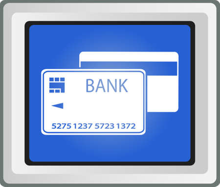 Vector Credit Card template  Front and back Vector