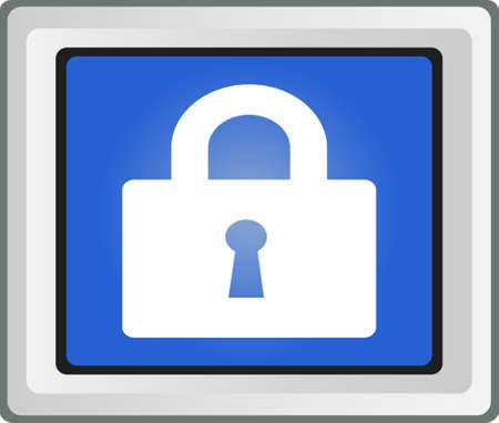 Lock icon - vector Stock Vector - 25593524