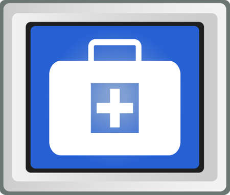 medical bag icon, sign Vector