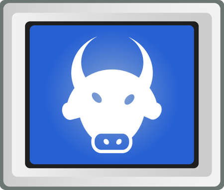 bull icon on stock exchange Vector