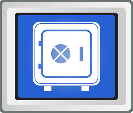 strongbox: Strongbox icon  Vector illustration