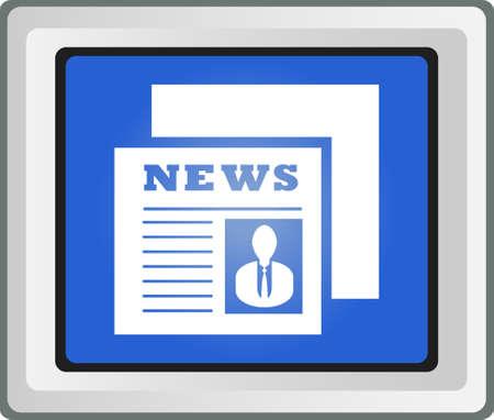 Newspaper Icon Stock Vector - 25696643