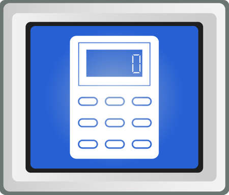 vector calculator icon Stock Vector - 25696650