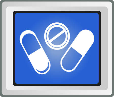 Pills and capsules icon set Stock Vector - 25696698