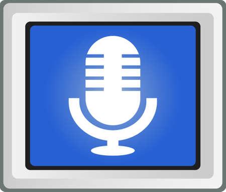 vector icone: R�tro vecteur ic�ne de microphone