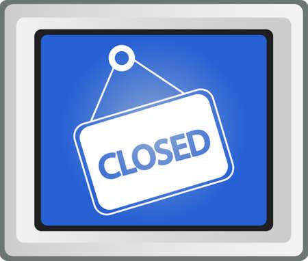 shop sign: Closed shop sign