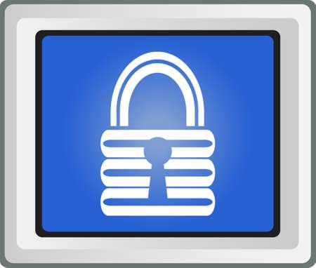 Lock icon - vector Stock Vector - 25696944