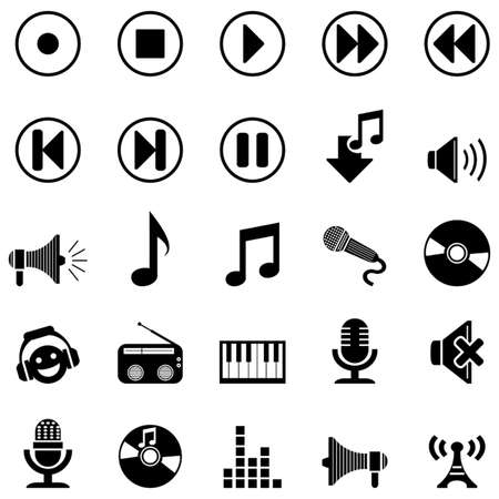 audio music icons  Vector