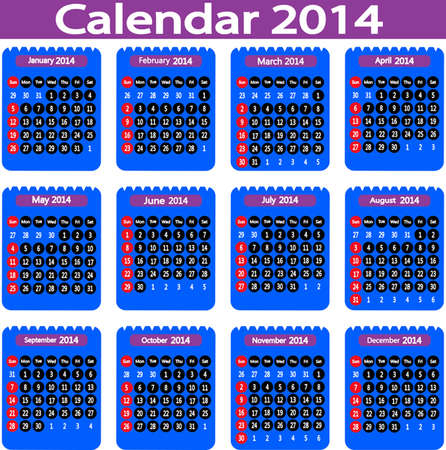 colorful calendar  vector illustration  Vector