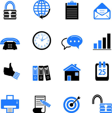 office icons: Web and Office Icons Illustration
