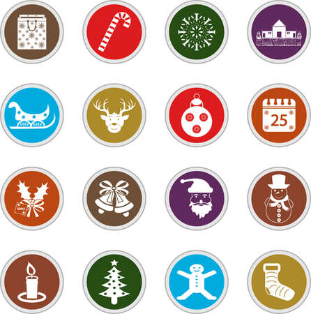 Vector Christmas icons Vector