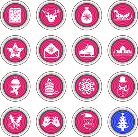 clack: Vector Christmas icons Illustration