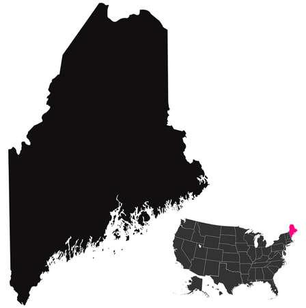 maine: Maine map