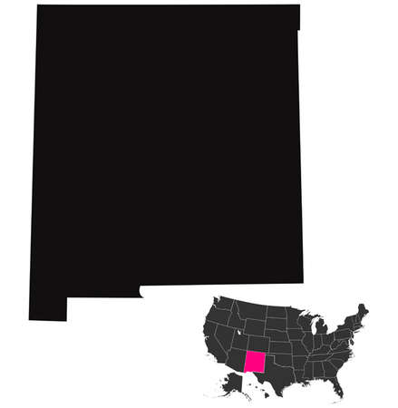 New Mexico map Vector