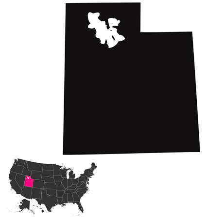 Utah map Illustration