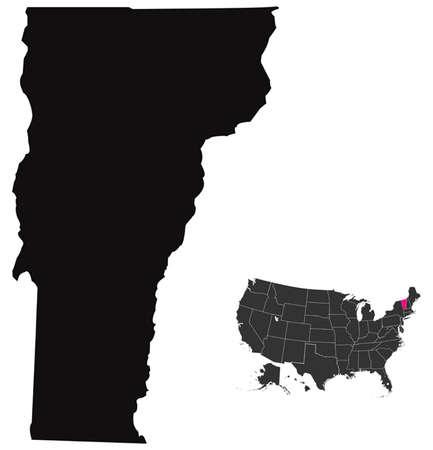 Vermont map Vector
