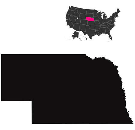 Nebraska map Vector
