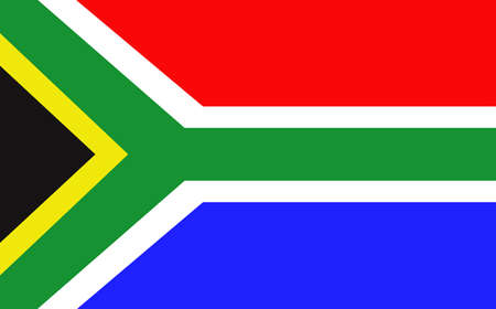 South Africa Flag  Illustration