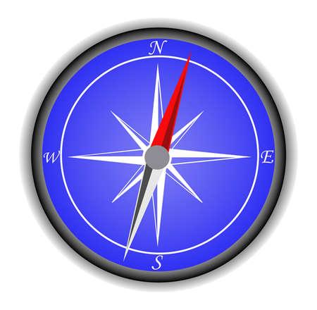 orientate: compass icon  Illustration