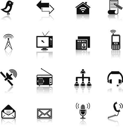 communication icons: communication icons