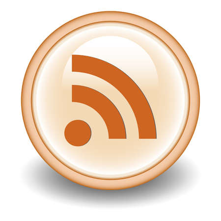 really simple syndication: Rss icon Illustration