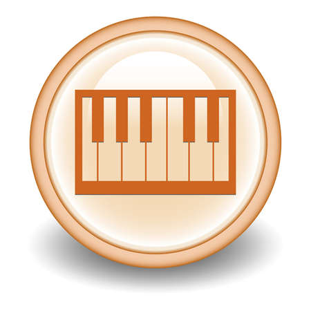 piano keys button Vector
