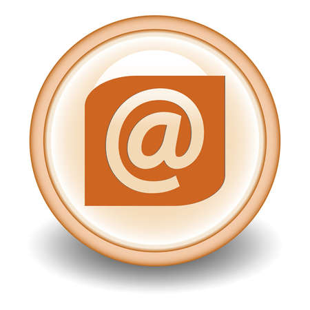 Email circular icon on Orange background  Vector