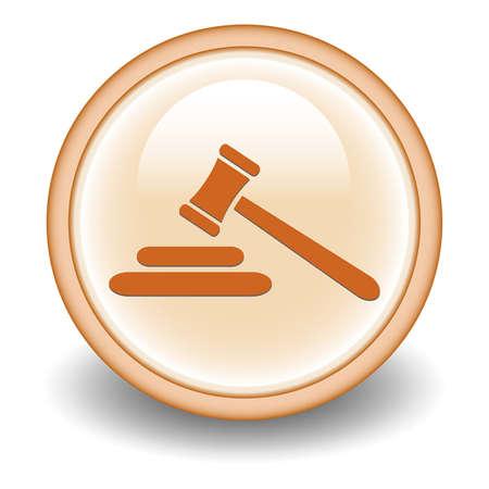 Hammer of judge symbol,vector