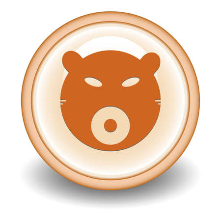 bear market: bear market internet icon - Illustration