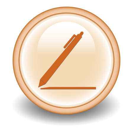 rollerball: pen isolated icon