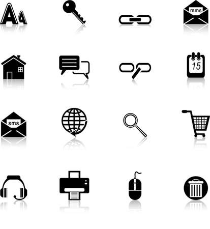 chat room: web and internet icons set