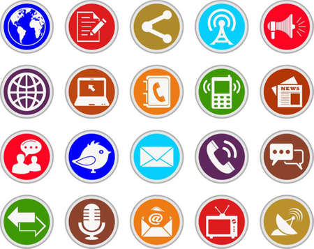 adress book: communication icons  Illustration