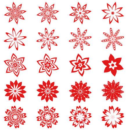 vectorized: Conjunto de flores vectorizadas