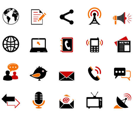 communication icons Фото со стока - 31028867