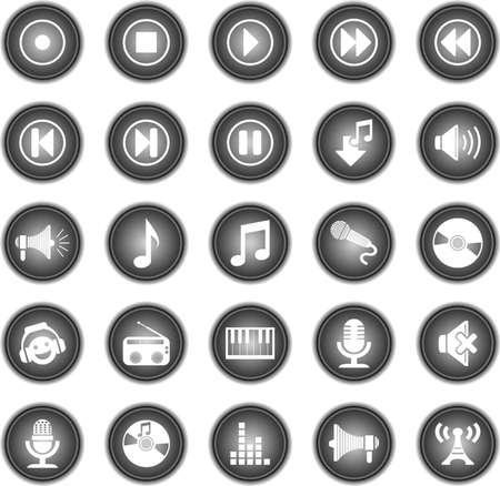 iconos de música: iconos de la música de audio Vectores