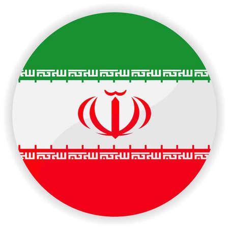Iran flag button  Vector