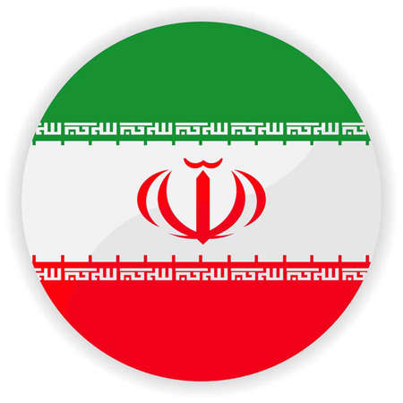 Iran flag button  Vector