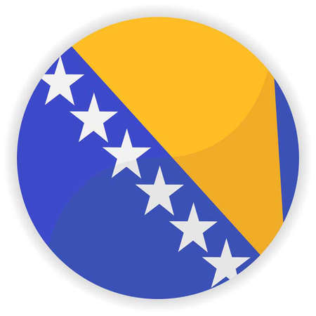 herzegovina: Bosnia and Herzegovina flag button