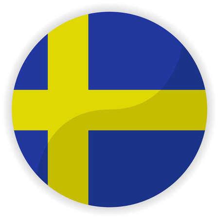 sweden flag: Sweden Flag Button Glossy