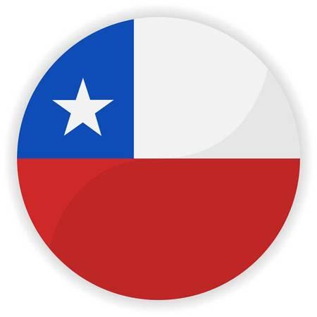 bandera de chile: Bot�n del indicador de Chile Vectores