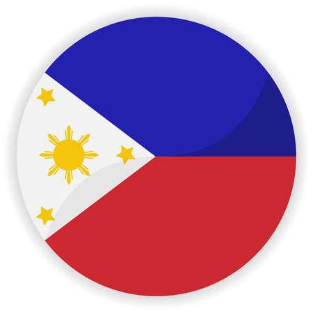 philippines: Philippines flag button Illustration